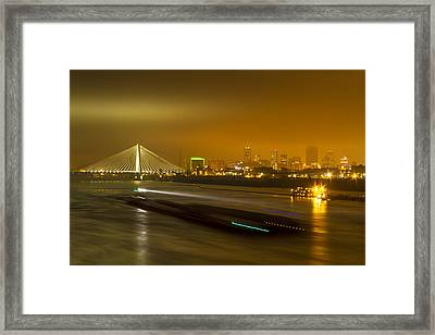 St Louis Skyline And Arch Framed Print