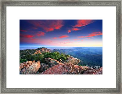 St Mary Peak Sunrise Framed Print by Bill  Robinson
