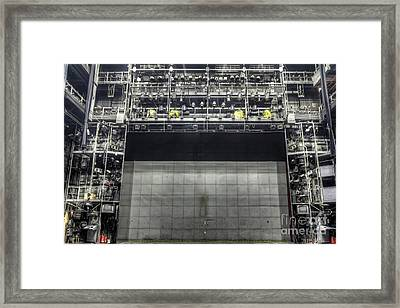 Stage In The Abandoned Theatre Framed Print