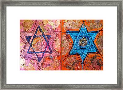 Star Of David Series Framed Print by Veronique Schamber-Erlich