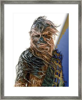 Star Wars Chewbacca Collection Framed Print by Marvin Blaine