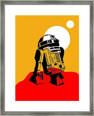 Star Wars R2-d2 Collection Framed Print by Marvin Blaine