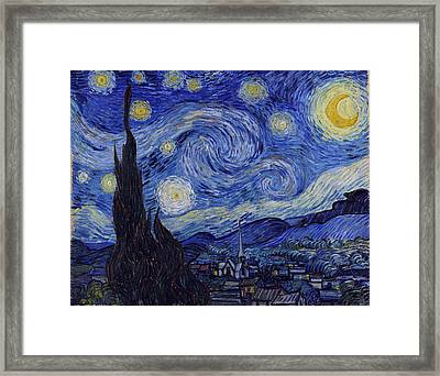 Framed Print featuring the painting Starry Night by Van Gogh