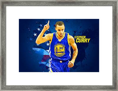 Stephen Curry Framed Print by Semih Yurdabak