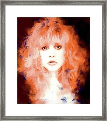 Stevie Nicks Framed Print by Brian Tones