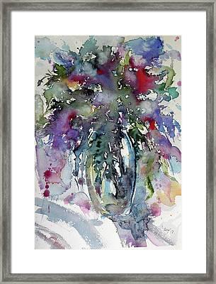 Framed Print featuring the painting Still Life by Kovacs Anna Brigitta