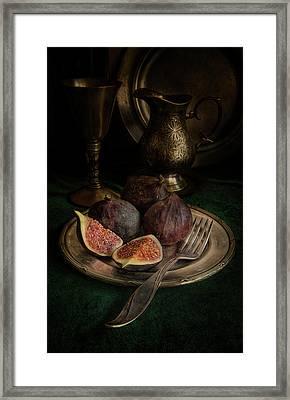 Still Life With Fresh Figs Framed Print