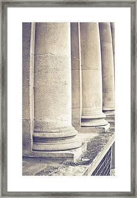 Stone Pillars Framed Print by Tom Gowanlock