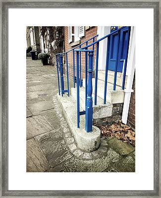 Stone Steps Detail Framed Print by Tom Gowanlock