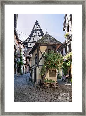 Streets Of Eguisheim Framed Print by Yefim Bam