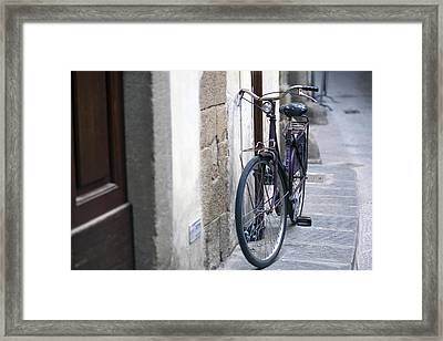 Streets Of Florence Framed Print by Andre Goncalves