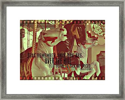 Striking Carousel Quote Framed Print by JAMART Photography