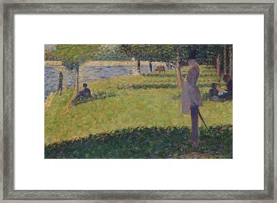 Study For La Grande Jatte   Framed Print by Georges Seurat