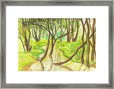 Summer Landscape, Painting Framed Print