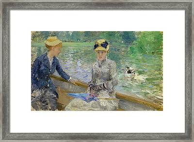 Summer's Day Framed Print by Berthe Morisot