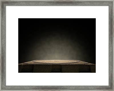 Sumo Ring Empty Framed Print by Allan Swart