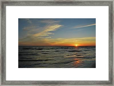 Sunset  Framed Print by Eva Ramanuskas