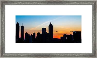 Sunset In Atlanta Framed Print