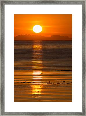 Sunset Over Faxafloi Bay, Reykjavik Framed Print by Panoramic Images