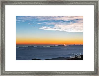 Sunset Over The La Silla Observatory Framed Print