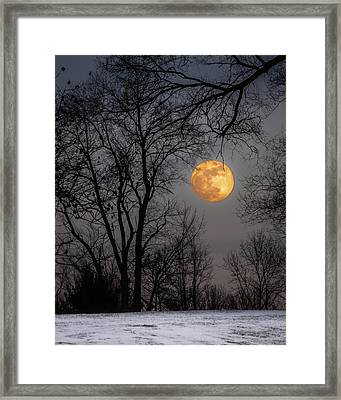 Super Blue Moon Rising Framed Print