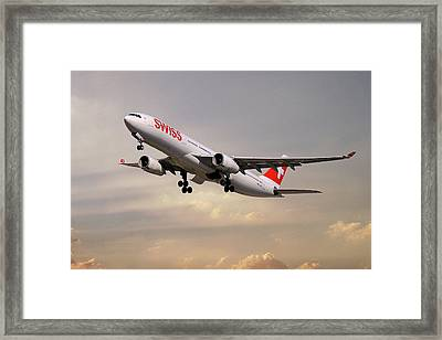 Swiss Airbus A330-343 Framed Print