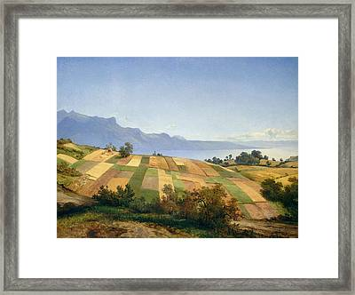 Swiss Landscape Framed Print