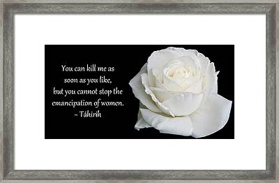 Framed Print featuring the photograph Tahirih The Pure One by Baha'i Writings As Art