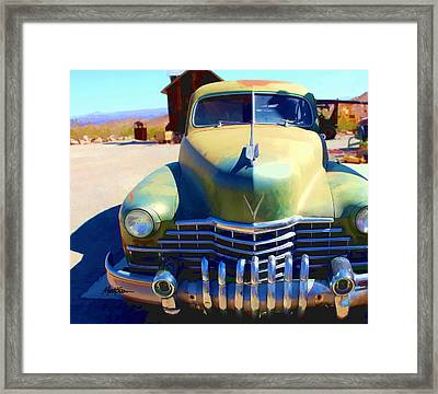 Techatticup Mine Ghost Town Nv Framed Print by Marti Green