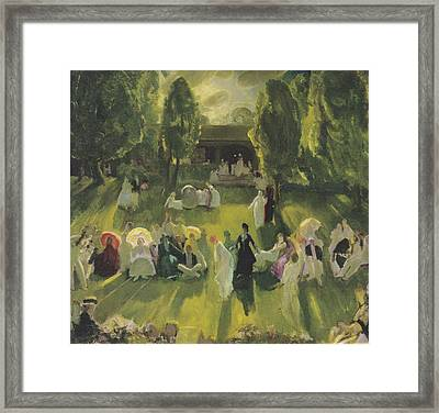 Tennis At Newport Framed Print by George Bellows