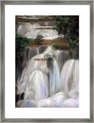 Thai Landscape Framed Print by Chonkhet Phanwichien