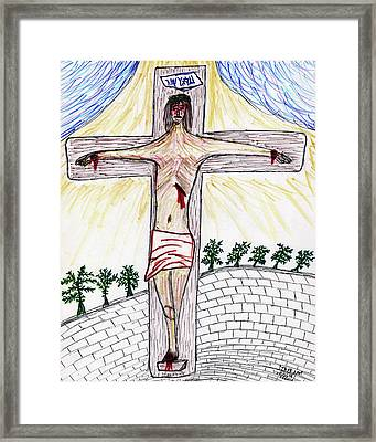 Thank  God  For  Good  Friday Framed Print by Carl Deaville