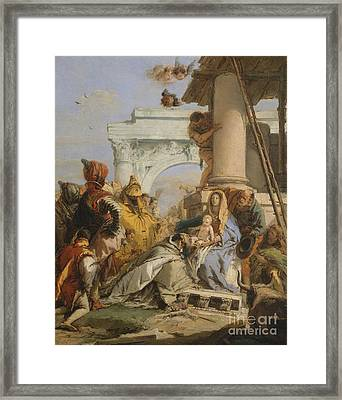 The Adoration Of The Magi Framed Print by Giovanni Battista Tiepolo