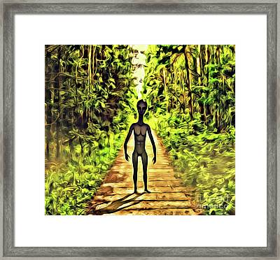 The Aliens Are Here Framed Print