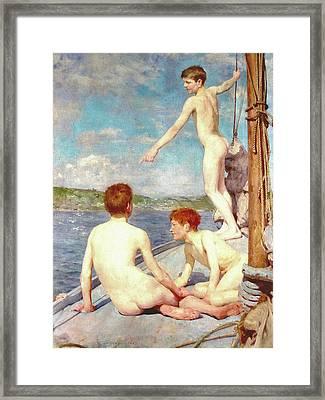 The Bathers Framed Print by H Tuke