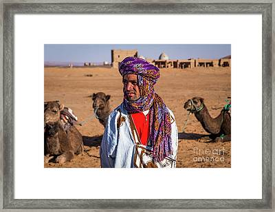 The Camel Driver Up Close Framed Print by Rene Triay Photography