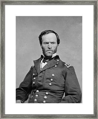 The Civil War. General William Tecumseh Framed Print by Everett