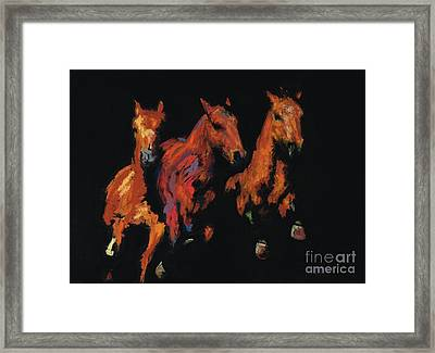 The Competitive Edge Framed Print by Frances Marino