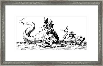 The Entrance Of The Lords Of Vroncourt, Tyllon, And Marimont Framed Print by Jacques Callot