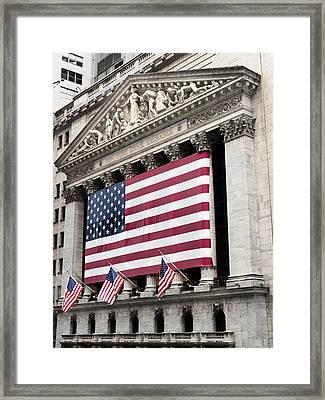 The Facade Of The New York Stock Framed Print