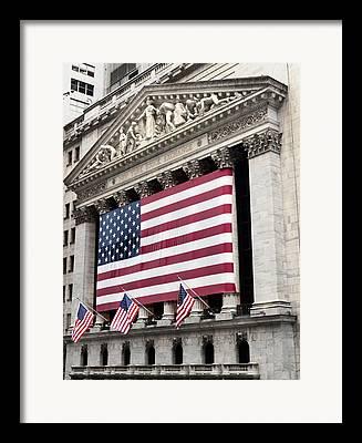 American National Flag Framed Prints