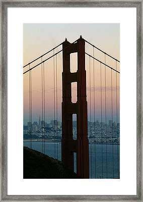 The Golden Gate Bridge Framed Print by American School