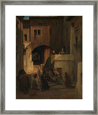 The Good Samaritan Framed Print by Alexandre-Gabriel Decamps
