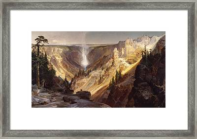 The Grand Canyon Of The Yellowstone Framed Print