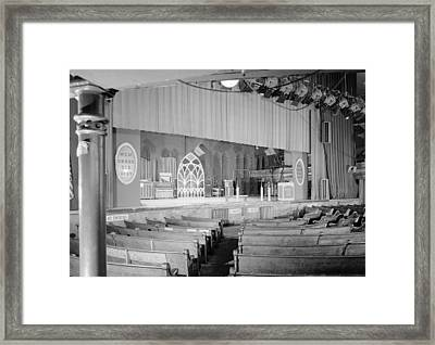 The Grand Ole Opry, Circa 1960s Framed Print