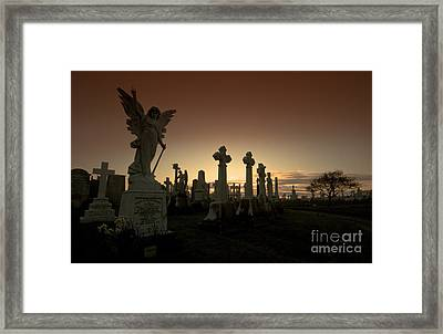 The Graveyard Framed Print by Angel  Tarantella