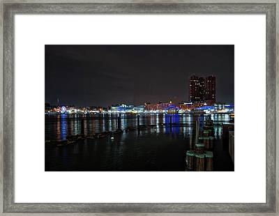 Framed Print featuring the photograph The Harbor View by Mark Dodd