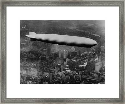 The Lz 129 Graf Zeppelin Framed Print by Everett