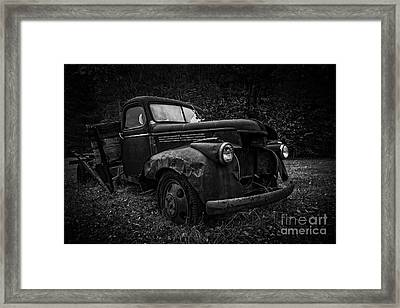 The Old Farm Truck Framed Print by Edward Fielding