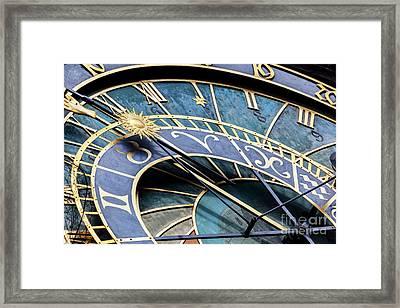 The Prague Astronomical Clock, Or Prague Orloj In Prague, Czech Republic Framed Print by Michal Bednarek